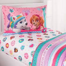 toddler bed sheets paw patrol