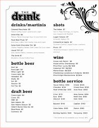 Cocktail Menu Template Free Download Awesome Sample Drink Menu ...