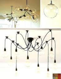 west elm edison bulb chandelier bare