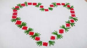Love Hand Embroidery Designs Hand Embroidery Tutorial Chikan Stitch Beautiful Love