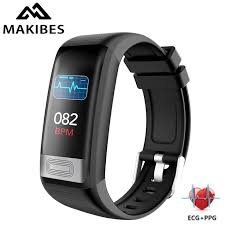 Makibes <b>C20S blood pressure</b> wrist band <b>heart rate</b> monitor <b>ECG</b> ...