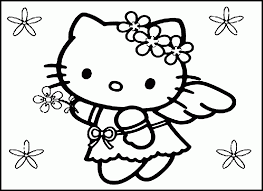 Coloring Pages Free Printable Hello Kitty Coloring Pages For Kids
