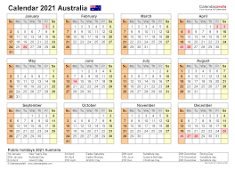 Australia 2021 calendar printable pdf for year 2021 with public national holidays. Australia Calendar 2021 Free Printable Pdf Templates
