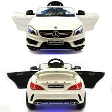 This is our fantastic and functional baby ride on car for your lovely children. 12v Ride On Toy Cars For Kids Mercedes Cla45 White Jay Goodys