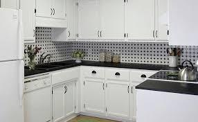 black white mosaic backsplash