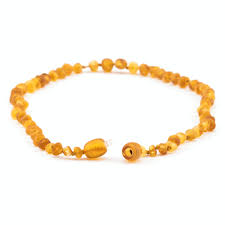 Amber <b>Teething Necklace</b> - Honey <b>Raw</b> Unpolished - <b>Baltic Amber</b>