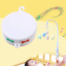 Wholesale- Rotary Baby Mobile Crib Bed Toy 12/35 Songs Music Box Movement Bell Nursery Hot Online