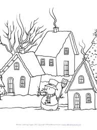 Especially over long winter vacations, coloring can be a great way to destress and reset moods. Winter Scene Coloring Page All Kids Network