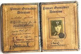 Waffen Original Hardcover Flip Ww2 Tank Panzer German Division Id Grenadier - Ss Nazi