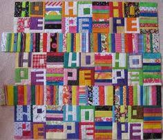 A word quilt is in my future.... | Improv-ing | Pinterest ... & My word would be JOY, I think...or do I need a Adamdwight.com