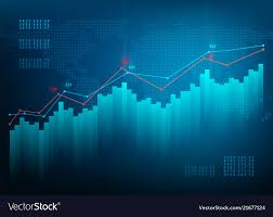 Chart Stock Photo Finance Chart Stock Graph Market Growth Business