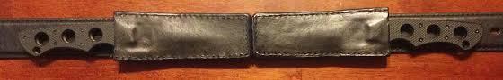 custom horizontal leather sheaths