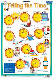 Educational Time Charts School Stationery Wholesale