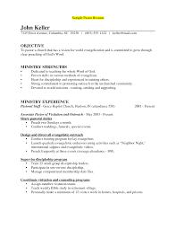 Remarkable Preacher Resume Cover Letter In Sample Pastoral Resume
