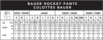 Bauer Supreme Size Chart Bauer Vapor Xr600 Inline Hockey Pant Senior