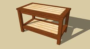 woodworking coffee table plans dma homes workbench heavy duty shed ideas garage work industrial top wooden