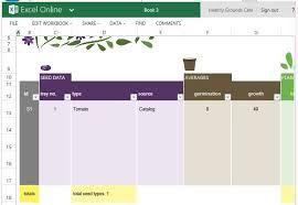 Free Garden Planner Template For Excel Online