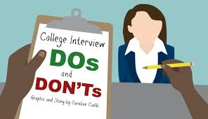 Interview Dos And Don Ts College Interview Dos And Donts