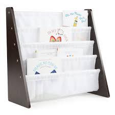 white book rack. Perfect White Tot Tutors Espresso Collection EspressoWhite Kids Book Rack Storage  Bookshelf To White 1