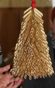 diy tabletop christmas tree gold pasta idea | Diy | Pinterest ...