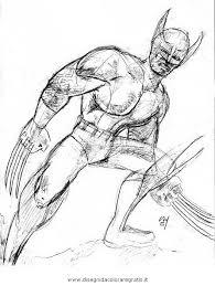 Disegno Wolverine 06 Categoria Misti Da Colorare Sketch Coloring Page