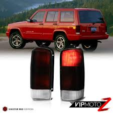 Jeep Cherokee Brake Light Bulb Details About For 97 03 Jeep Cherokee Xj Deep Red Smoke Brake Signal Tail Light Pair Assembly
