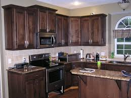 luxury dark stain colors for kitchen cabinets f23x in nice home interior design ideas with dark