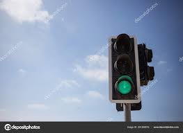 What Is Blue Light On Traffic Signal Green Traffic Light Signal Safe Way Blue Sky Few Clouds