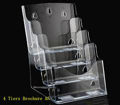 Plastic Document Display Stand Clear A100 100 Tiers Plastic Acrylic Brochure Literature Pamphlet 2