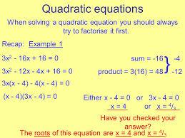 3 quadratic equations when solving