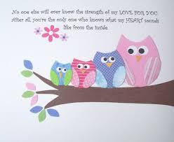 Owl Bedroom Decor Kids Kids Wall Art Childrens Room Decor Baby Girl Nursery Art