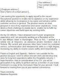 How To Write A Cover Letter For Receptionist Best Of Resume