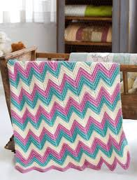 Yarnspirations Patterns Delectable Yarnspirations Caron Zig Zag Baby Blanket Patterns