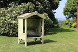 cottage arbour seats 2 wooden garden