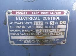 cincinnati 2 tool grinder wiring but the mfg tag says 220