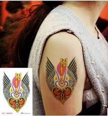 Freedom Love Key Lock Tatoo Stickers Temporary Tattoo Sexy Tattoos For Men Adults Waterproof Tatto Shoulder Chest Arm Makeup Paint