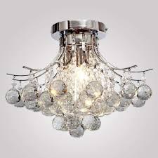 Lighting By Pecaso Contour Flush Mount Chrome Chandelier Modern Crystal Chandelier Light Lamp Mini Style Flush