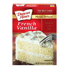 Duncan Hines Moist Delux French Vanilla Cake Mix 468g Case Buy 12