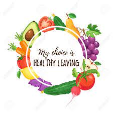 My Choice Is Healthy Leaving. Healthy Lifestyle Poster With Vegetables..  Royalty Free Cliparts, Vectors, And Stock Illustration. Image 86424564.