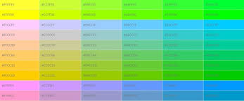 Hex Color Code Chart For Websites