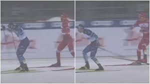 Большунов лютует на лыжне: вчера упал с норвежцем, сегодня – въехал в финна  и замахивался палкой