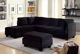 Black sectional couches Leather Sectional Pc Lomma Collection Contemporary Style Black Flannelette Fabric Upholstery Sectional Sofa Pinterest Cm6316 Pc Lomma Black Flannelette Fabric Sectional Sofa Sofas