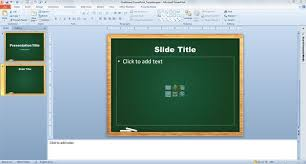 How To Create A Template In Powerpoint 2010 Chalkboard Powerpoint Template