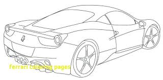 Classy Inspiration Coloring Pages Ferrari With Cars Logo Laferrari