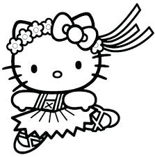 Cute Kitty Coloring Pages Hello Kitty Printable Coloring Page Hello