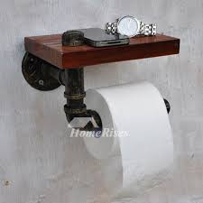 Cool toilet paper holder Giraffe Homerises Black Unique Antique Bronze Rustic Wooden Toilet Paper Holder
