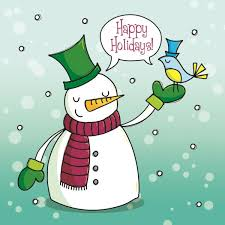 Holidays Snowman Happy Holidays Snowman Cute Christmas Card 2 50 Creased Cards