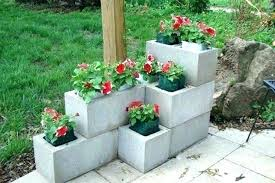 painting cinder blocks for garden painted cinder block garden cinder block garden wall cinder block vertical