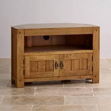 Corner Tv Unit Quercus Rustic Solid Oak Corner Tv Cabinet Corner Tv Cabinets