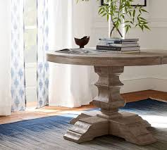 banks extending pedestal dining table